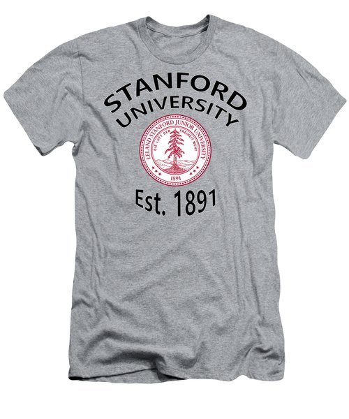 Men's T-Shirt (Slim Fit) featuring the digital art Stanford University Est 1891 by Movie Poster Prints