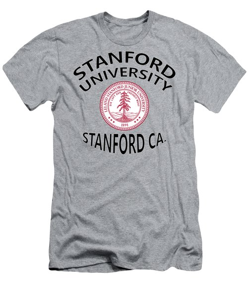 Men's T-Shirt (Slim Fit) featuring the digital art Stanford University Stanford California  by Movie Poster Prints