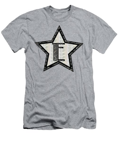Star Of The Show Art Deco Style Letter E	 Men's T-Shirt (Athletic Fit)