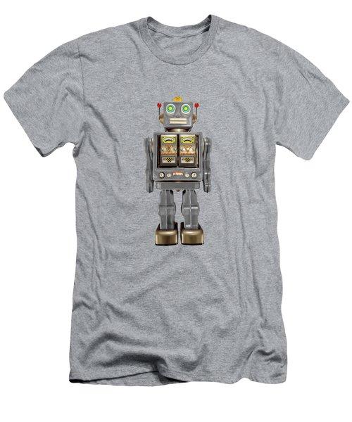 Star Strider Robot Grey Men's T-Shirt (Athletic Fit)