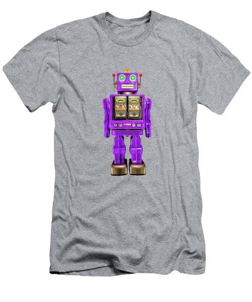 Star Strider Robot Purple Pattern Men's T-Shirt (Athletic Fit)