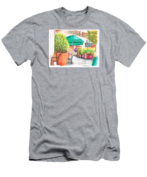 Starbucks Coffee, Sunset Blvd, And Cresent High, West Hollywood, Ca Men's T-Shirt (Slim Fit) by Carlos G Groppa