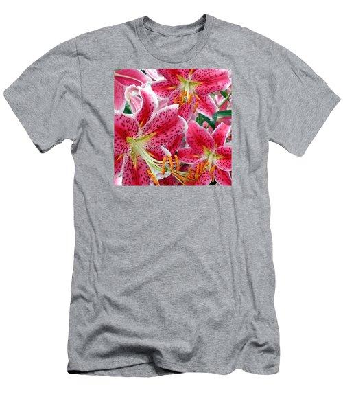 Stargazer Lilies Men's T-Shirt (Athletic Fit)