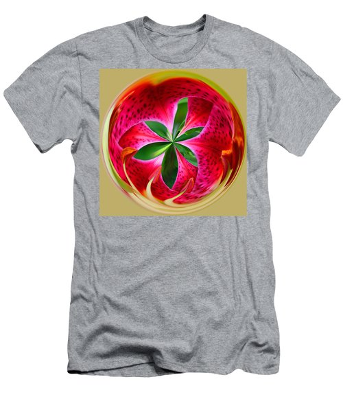 Stargazer Lily Orb Men's T-Shirt (Athletic Fit)
