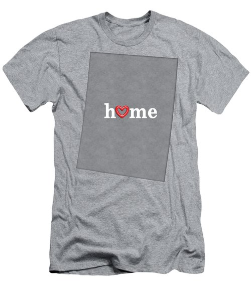 State Map Outline Colorado With Heart In Home Men's T-Shirt (Athletic Fit)