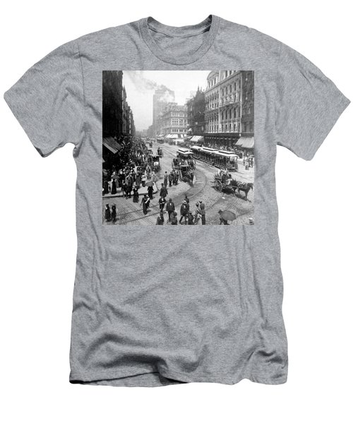 State Street - Chicago Illinois - C 1893 Men's T-Shirt (Slim Fit) by International  Images
