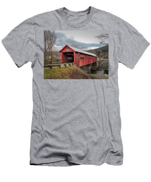 Station Covered Bridge Men's T-Shirt (Athletic Fit)