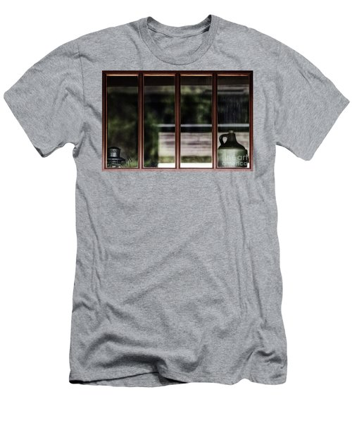 Men's T-Shirt (Slim Fit) featuring the photograph Station Window by Brad Allen Fine Art