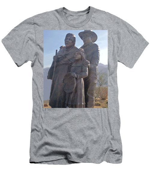 Statuary Dedicated To The American Indian Men's T-Shirt (Slim Fit) by Jay Milo