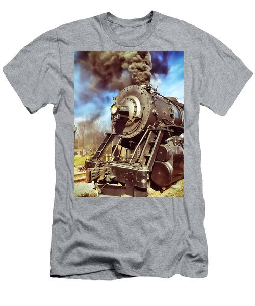 Steam Engine Men's T-Shirt (Athletic Fit)