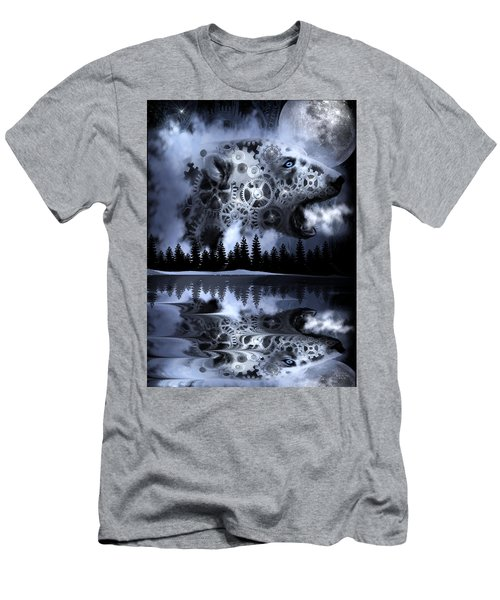 Steampunk Polar Bear Landscape Men's T-Shirt (Athletic Fit)