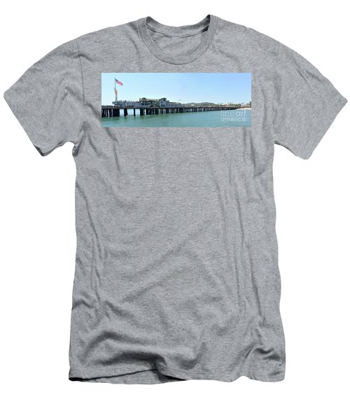 Stearns Wharf 2 Men's T-Shirt (Athletic Fit)