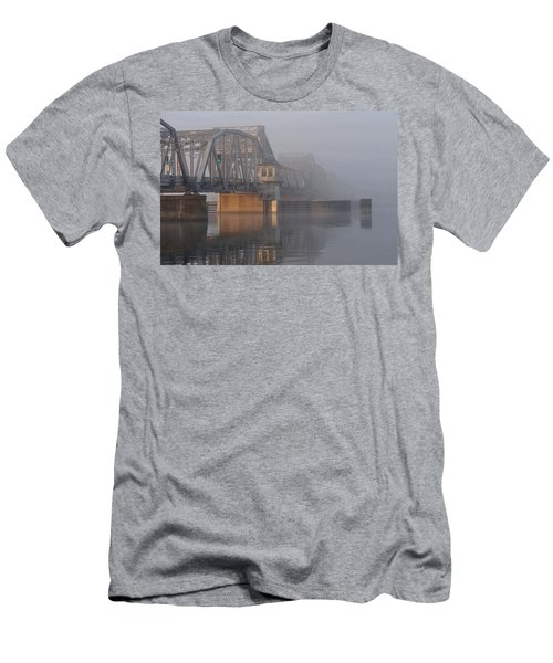 Steel Bridge In Fog Men's T-Shirt (Athletic Fit)
