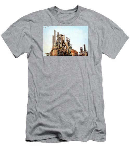 Steel Stack Blast Furnaces Men's T-Shirt (Athletic Fit)