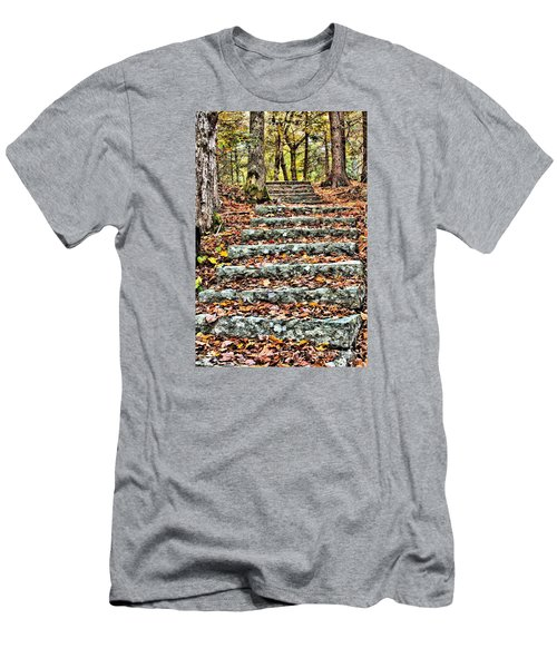 Step Into The Woods Men's T-Shirt (Athletic Fit)