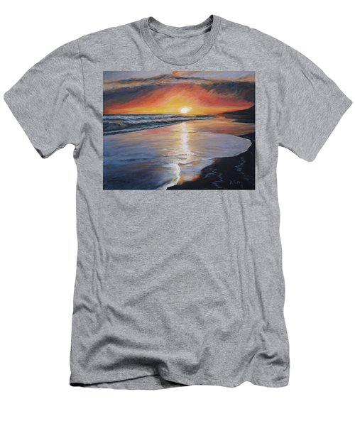 Men's T-Shirt (Slim Fit) featuring the painting Stephanie's Sunset by Donna Tuten