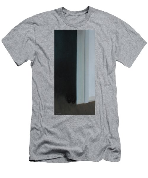 Stepping Into The Light? Men's T-Shirt (Slim Fit) by Tone Aanderaa