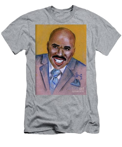 Men's T-Shirt (Slim Fit) featuring the drawing Steve Harvey by P J Lewis
