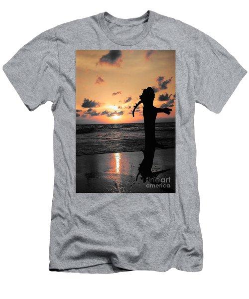 Still By Sea Men's T-Shirt (Slim Fit) by Rushan Ruzaick