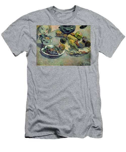 Still Life With Fruit Men's T-Shirt (Slim Fit) by Paul Gauguin