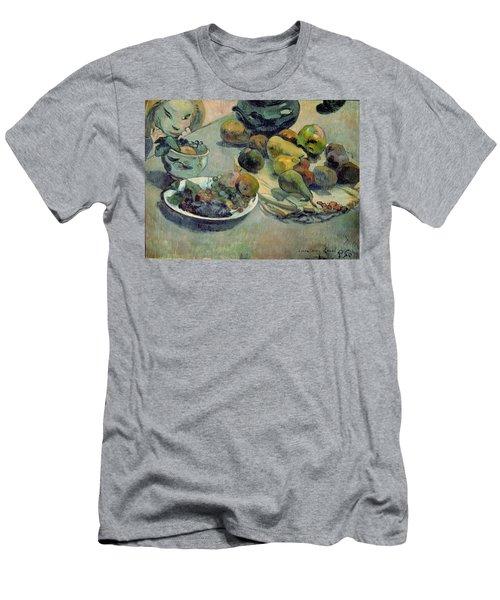 Still Life With Fruit Men's T-Shirt (Slim Fit) by Paul Gauguin