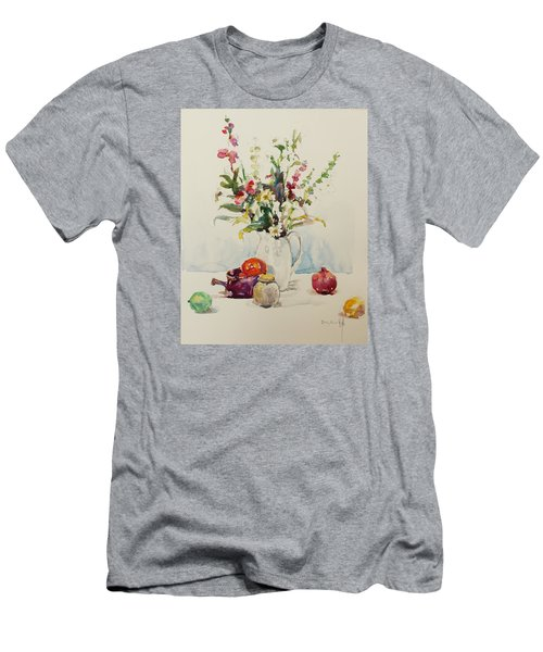 Still Life With Pomegranate Men's T-Shirt (Slim Fit) by Becky Kim
