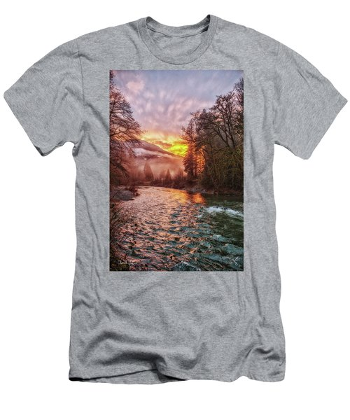 Stilly Sunset Men's T-Shirt (Slim Fit) by Charlie Duncan