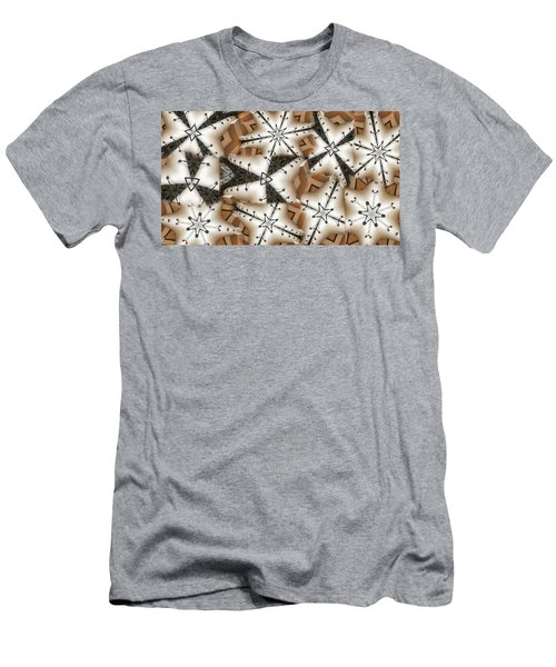 Men's T-Shirt (Slim Fit) featuring the digital art Stitched 3 by Ron Bissett