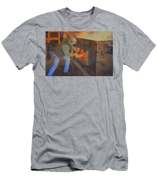 Stoking The Sugarhouse Men's T-Shirt (Slim Fit) by Tom Singleton
