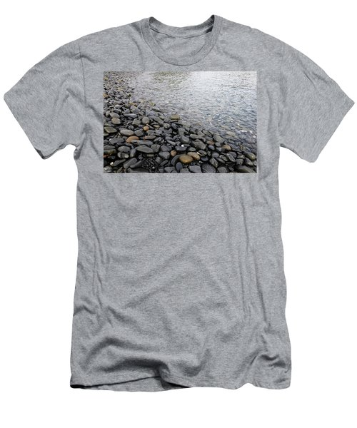 Men's T-Shirt (Slim Fit) featuring the photograph Menorca Pebble Beach  by Pedro Cardona