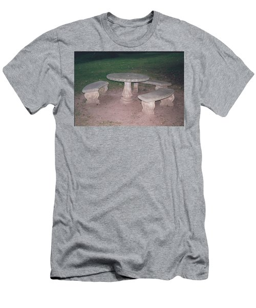 Stone Picnic Table And Benches Men's T-Shirt (Athletic Fit)