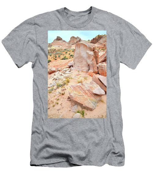 Men's T-Shirt (Slim Fit) featuring the photograph Stone Tablet In Valley Of Fire by Ray Mathis