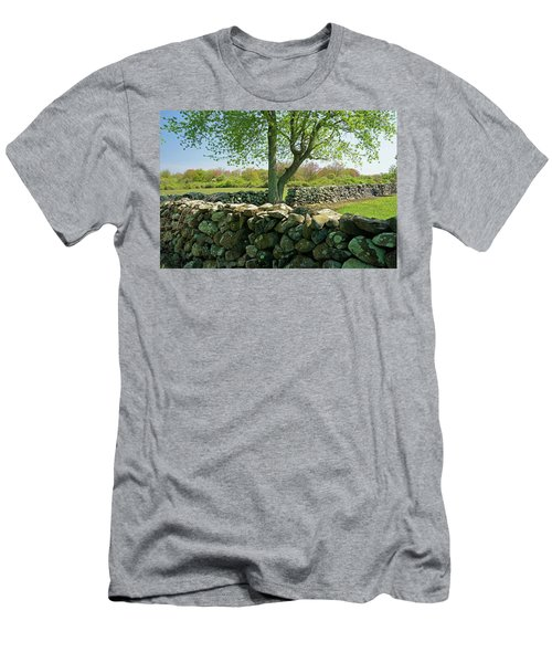 Stone Wall In Rhode Island Men's T-Shirt (Athletic Fit)