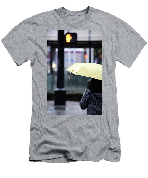 Men's T-Shirt (Slim Fit) featuring the photograph Stop To Thoughts  by Empty Wall