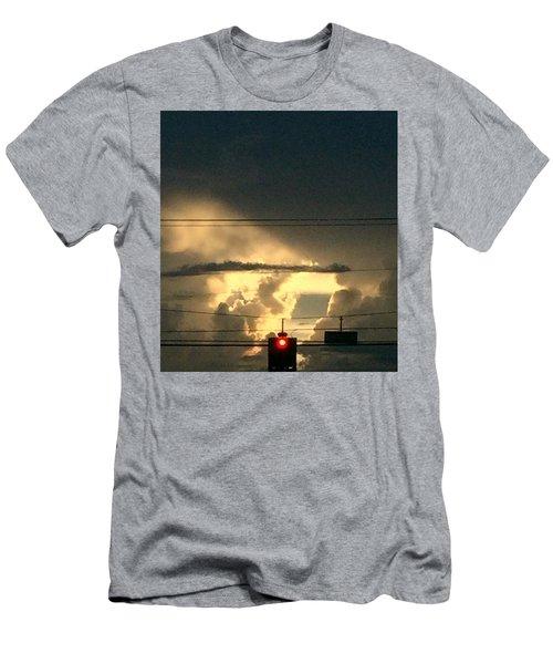 Stoplight In The Sky Men's T-Shirt (Slim Fit) by Audrey Robillard