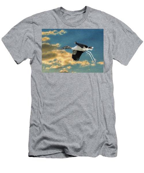 Stork Bringing Nesting Material Men's T-Shirt (Athletic Fit)