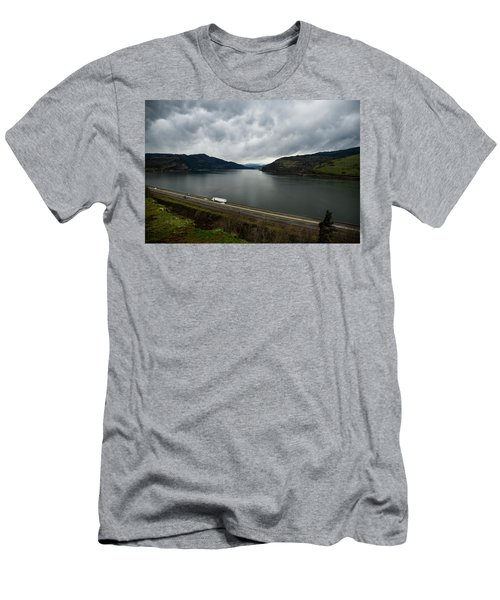 Storm Brewing On The Columbia Men's T-Shirt (Athletic Fit)