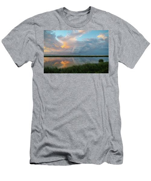 Storm Cloud Reflections At Sunset Men's T-Shirt (Athletic Fit)