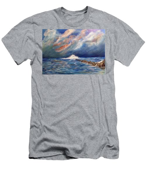Storm Over The Ocean Men's T-Shirt (Athletic Fit)