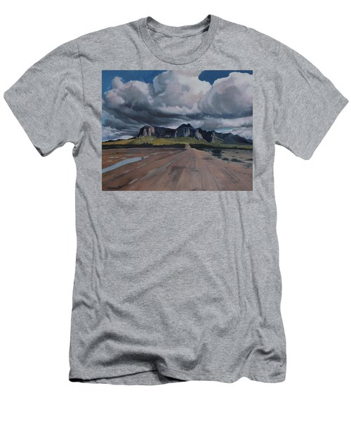 Storm Over The Superstitions Men's T-Shirt (Slim Fit) by Barbara Barber