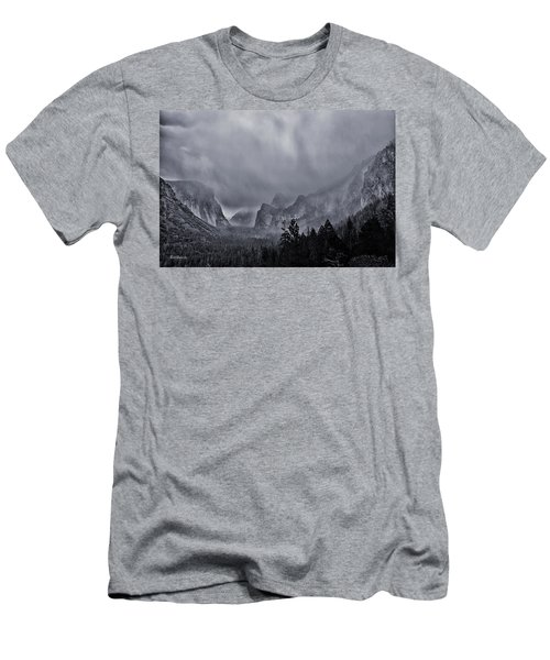 Storm Over Yosemite Men's T-Shirt (Athletic Fit)