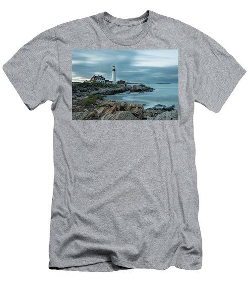 Storm Passing At Portland Head Light Men's T-Shirt (Athletic Fit)