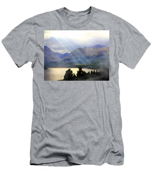 Storms A Coming-lower Two Medicine Lake Men's T-Shirt (Athletic Fit)