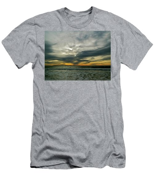 Stormy Beach Clouds Men's T-Shirt (Athletic Fit)