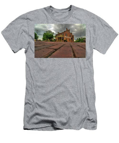Stormy Morning On Main Street Men's T-Shirt (Athletic Fit)