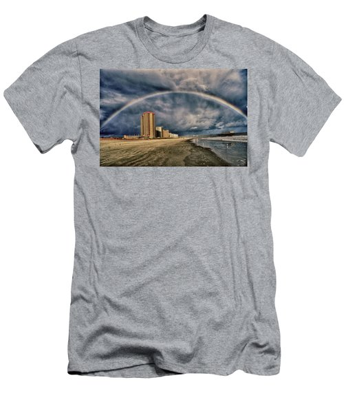 Stormy Rainbow Men's T-Shirt (Slim Fit) by Kelly Reber