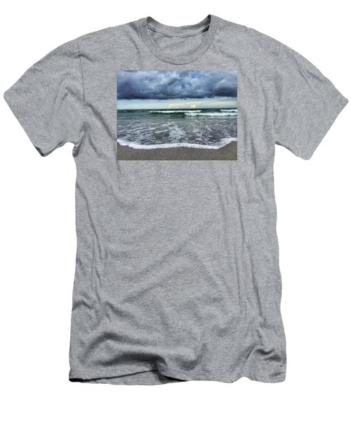 Stormy Waves Men's T-Shirt (Slim Fit)