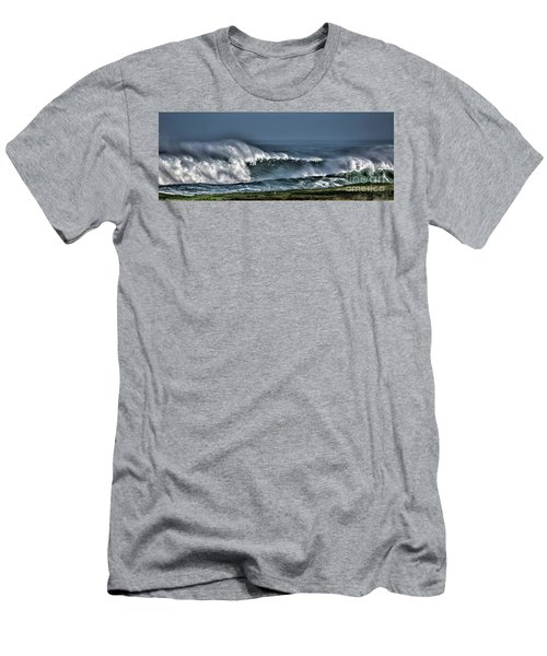 Stormy Winter Waves Men's T-Shirt (Slim Fit) by Shirley Mangini