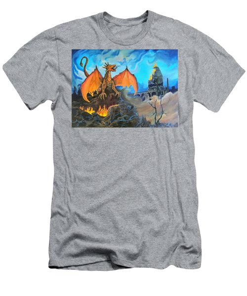 Men's T-Shirt (Slim Fit) featuring the painting Straight To The Casttttle by Kevin F Heuman