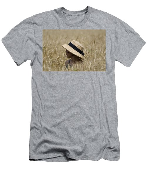 Straw Hat Men's T-Shirt (Athletic Fit)
